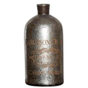 Lamaison Silver Large Mercury Glass Bottle