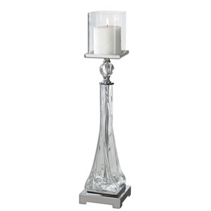 Grancona Polished Nickel Candleholder