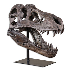 Chestnut Brown Tyrannosaurus Sculpture
