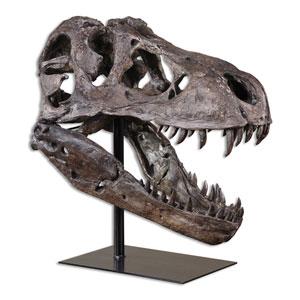 Chestnut Brown Tyrannosaurus Sculpture