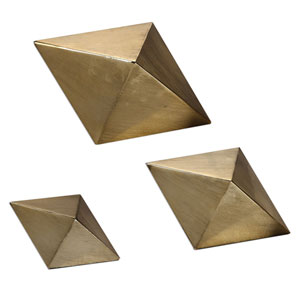 Rhombus Champagne Accents, Set of Three