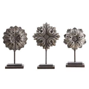 Alarik Aged Ivory Florals, Set of Three