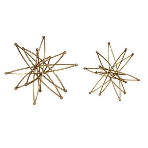 Constanza Metallic Gold Decorative Accessories, Set of Two