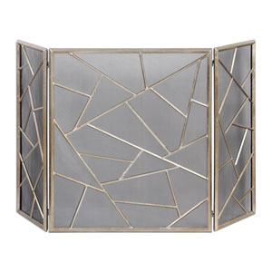 Armino Antique Silver Fireplace Screen