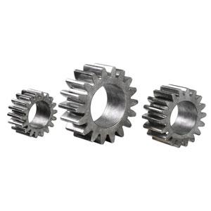 Gears Silver Sculpture, Set of 3