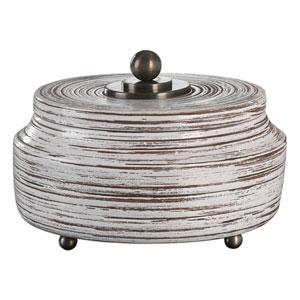 Saltillo White Ceramic Box