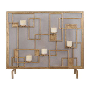 Mara Fireplace Screen Candleholder