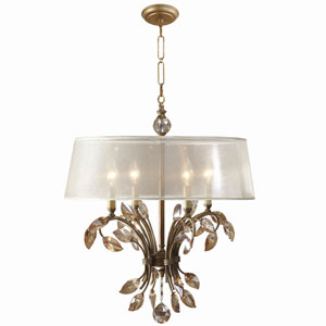 Alenya Gold Four-Light Metal Chandelier