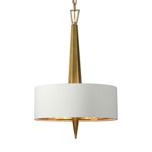 Obeliska Gold Three-Light Chandelier