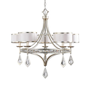 Tamworth Silver Champagne Five-Light Chandelier