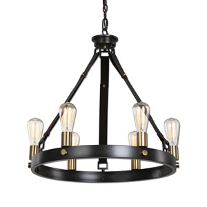 Marlow Antique Bronze Six-Light Chandelier