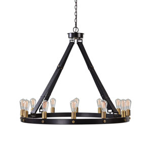 Marlow Bronze 12 Light Circle Chandelier