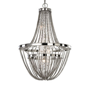 Couler Polished Nickel Four-Light Chandelier