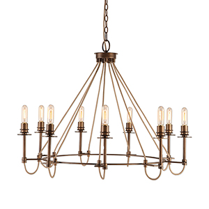 Lyndhurst Oil Rubbed Bronze Nine-Light Chandelier