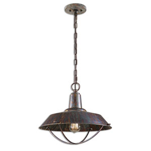 Arcada Bronze One-Light Mini Pendant