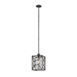 Arbela Rust Black and Aged Gray Light Mini Pendant