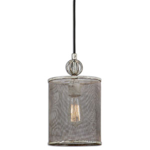 Pontoise Antique Ivory and Dark Espresso One-Light Mini Pendant
