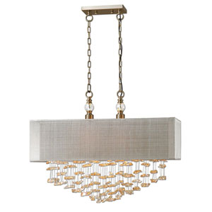 Santina Antiqued Brushed Two Light Pendant