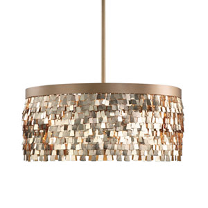 Tillie Gold Textured Three-Light Pendant