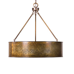 Wolcott Gold Five-Light Pendant