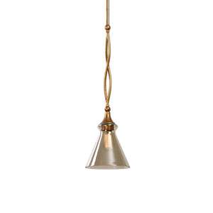 Glam One-Light Gold Mini Pendant