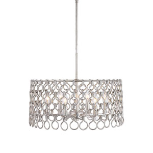 Maille Six-Light Silver Pendant
