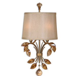 Alenya Gold Two-Light Wall Sconce