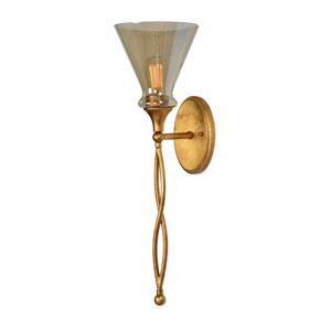 Glam One-Light Gold Sconce