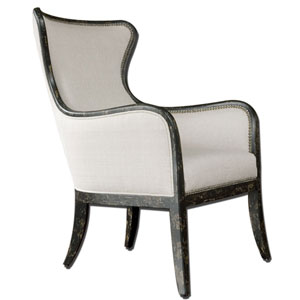 Sandy Sandy White Wing Chair