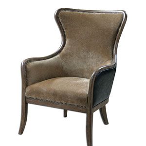 Snowden Weathered Pine 41-Inch Wing Chair
