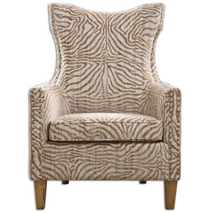 Kiango Neutral Animal Pattern Armchair