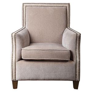 Darick Oatmeal White Armchair
