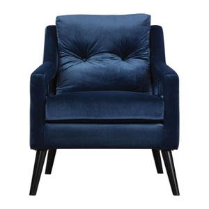 OBrien Blue Velvet Armchair