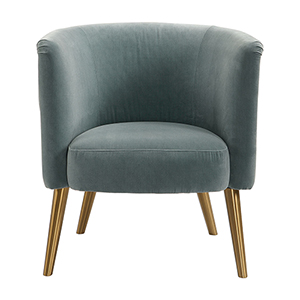Haider Steel Gray Accent Chair