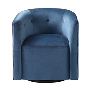 Mallorie Blue Swivel Chair