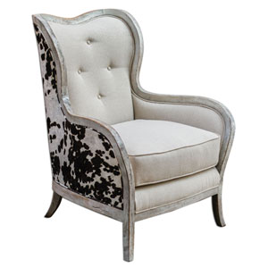 Chalina Bone White 42-Inch Arm Chair