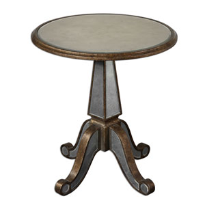 Eraman Antique Gold Accent Table