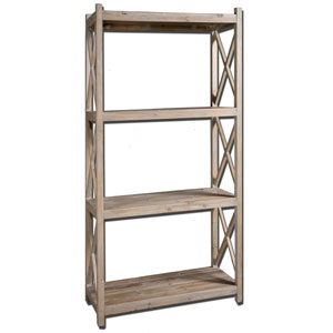 Stratford Fir Wood Etagere Book Shelf
