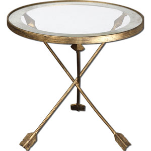 Gold Aero Accent Table