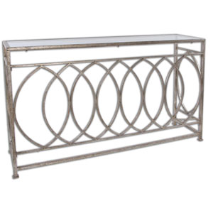 Aniya Antique Silver Console Table