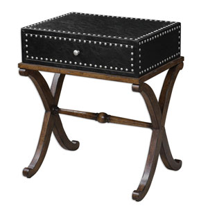 Lok Antique Walnut Accent Table