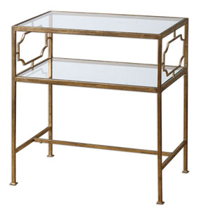 Genell Gold and Iron 25.75-Inch Side Table