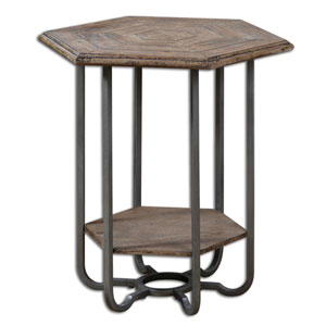 Mayson Light Tan Chippy Mayson Wooden Accent Table