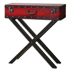 Taggart Antiqued Red Console Table