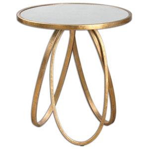 Montrez Glazed Gold Accent Table