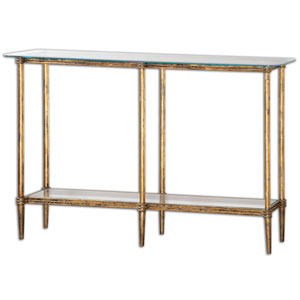Elenio Bright Gold Console Table
