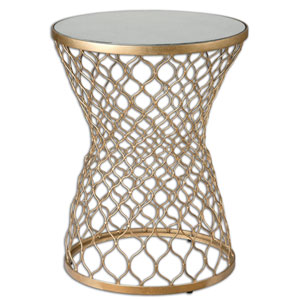 Naeva Gold Round End Table