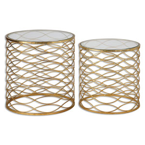 Zoa Gold Accent Table, Set Of Two