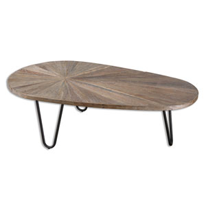 Leveni Recycled Elm Wood Coffee Table
