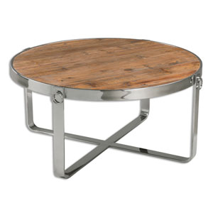 Berdine Reclaimed Fir Wood Coffee Table